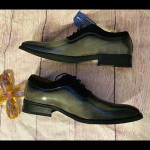 Gino Vitale New Mens gray dress shoe sz 10…